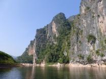 Limestone cliff Nam Ou